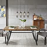 Ink+Ivy Trestle Dining/Gathering Table Reclaimed Brown/Gun Metal See Below For Sale