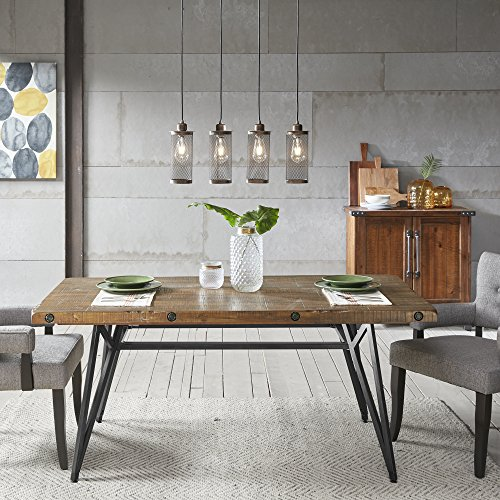 Ink+Ivy Trestle Dining/Gathering Table Reclaimed Brown/Gun Metal See Below