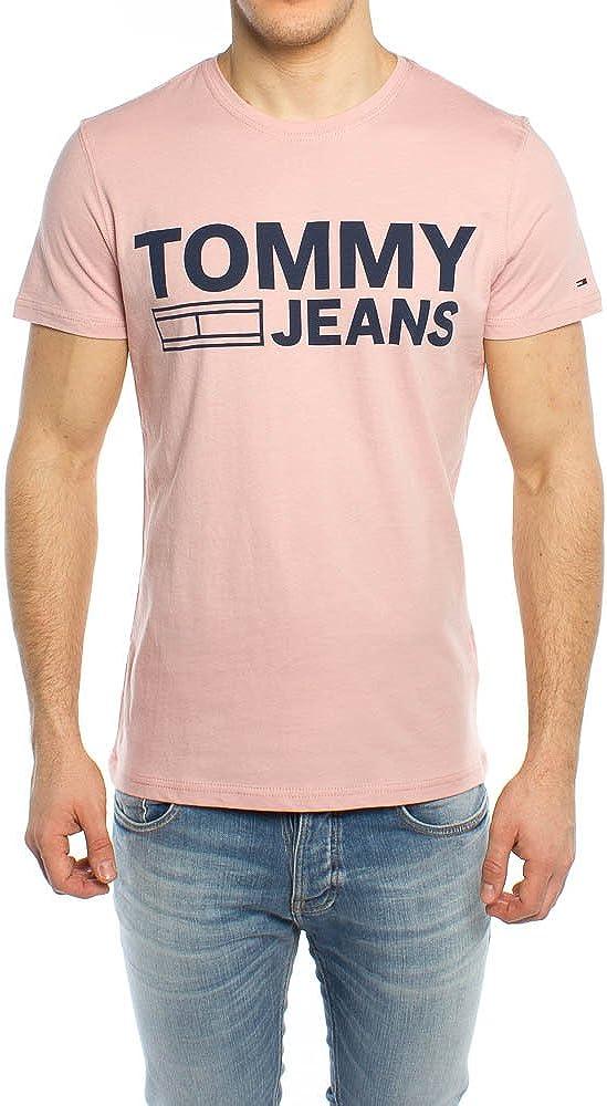 Tommy Hilfiger - Camiseta de Manga Corta Hombre Color: Rosa Talla: M: Amazon.es: Ropa y accesorios
