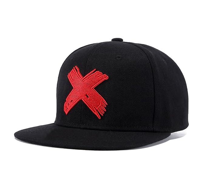 d82f9deb Unisex Snapback, Adjustable Big Cross Dad Hat Hip Hop Flat Bill Baseball Cap  (Black