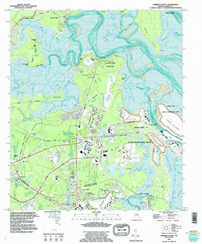 (YellowMaps Harrietts Bluff GA topo map, 1:24000 Scale, 7.5 X 7.5 Minute, Historical, 1994, Updated 1995, 27.8 x 23 in - Tyvek)