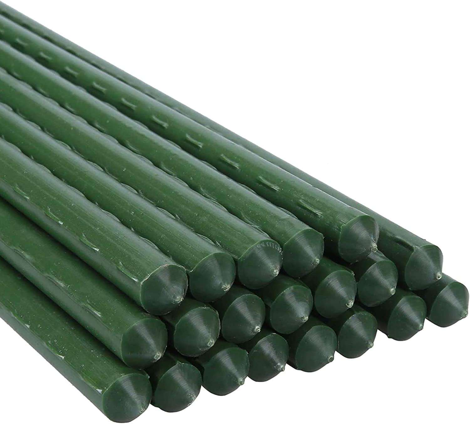 PUTING Steel Garden Stakes Plant Stakes with Plastic Coated Pack of 20 (60 inches)
