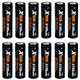 Xtech AA Ultra High-Capacity 3100mah Ni-MH Rechargeable Batteries (12 Pack)