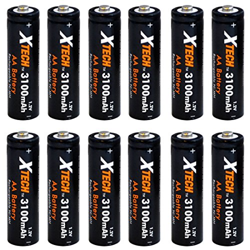 Xtech AA Ultra High-Capacity 3100mah Ni-MH Rechargeable Batt