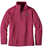 Patagonia Girls' Better Sweater Fleece Quarter Zip (L, Craft Pink)