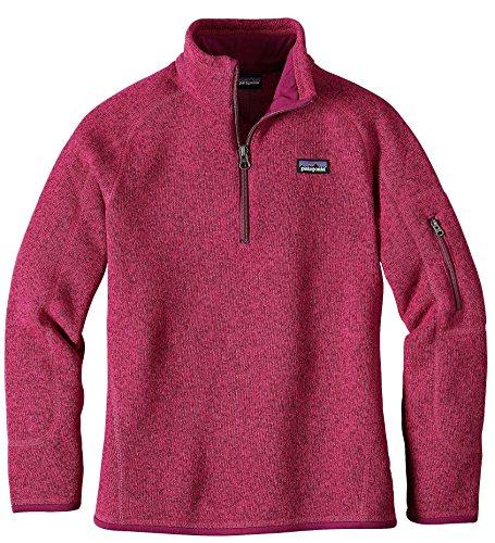 Patagonia Girls' Better Sweater Fleece Quarter Zip (L, Craft Pink) by Patagonia