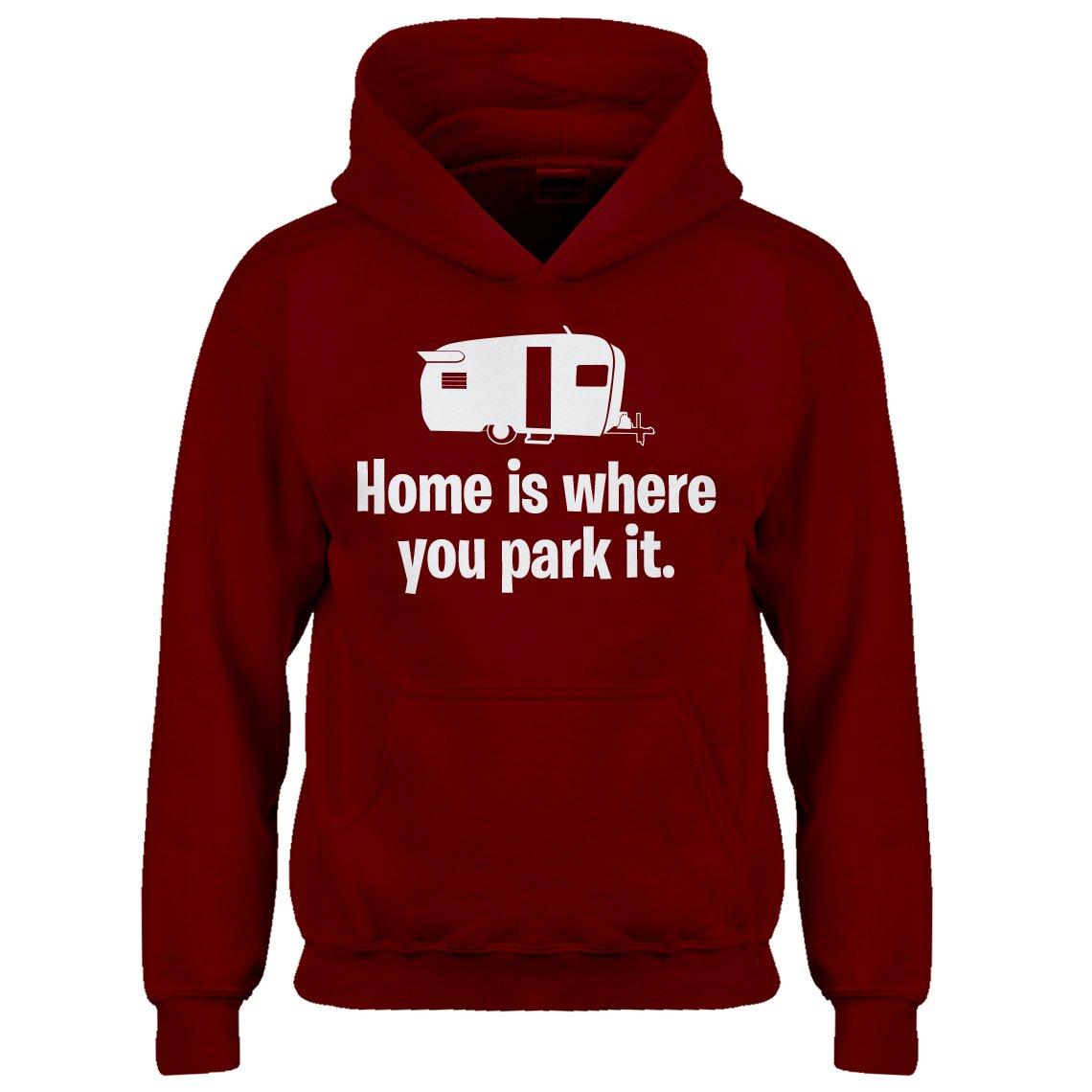 Indica Plateau Kids Hoodie Home is Where You Park it Medium Red Hoodie