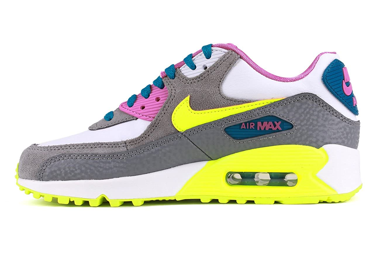 new style 2c4bc bf9af Nike Air Max 90 2007 (GS) Schuhe white-volt ice-green abyss-cool grey - 38   Amazon.co.uk  Shoes   Bags