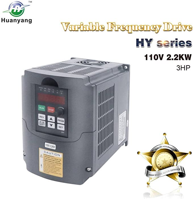 Vfd 110v Input 2 2kw 3hp Variable Frequency Cnc Drive Inverter Converter For 3 Phase Motor Speed Control 2 2kw 110v Amazon Com