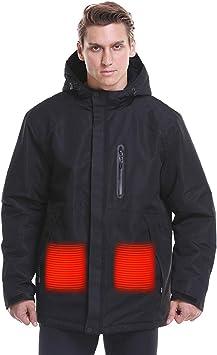 寒い冬の屋外オートバイ、ハイキング、スキー用男性&女性温水ジャケット、USBカーボンファイバースマート暖房ダウンコットンジャケット、