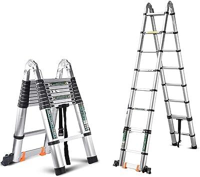XIA Plegable telescópica Escalera, 3,5 + 3,5=7m escalera recta, portátil y cómodo, estable y segura espiga de escalera (Size : 1.9+1.9=Straight 3.8m): Amazon.es: Bricolaje y herramientas