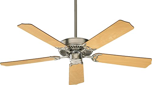 Quorum International 77525-656 Capri I 52-Inch Ceiling Fan, Satin Nickel Finish with Reversible Blades