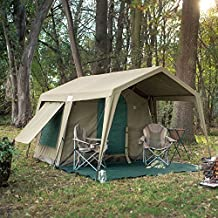 Delta Zulu 3000 Canvas 4 Person Chalet Tent. Canvas camping tent or outfitter tent with waterproof ripstop canvas. Four season military grade canvas tent by Bushtec Adventure (Gazebo sold separately).