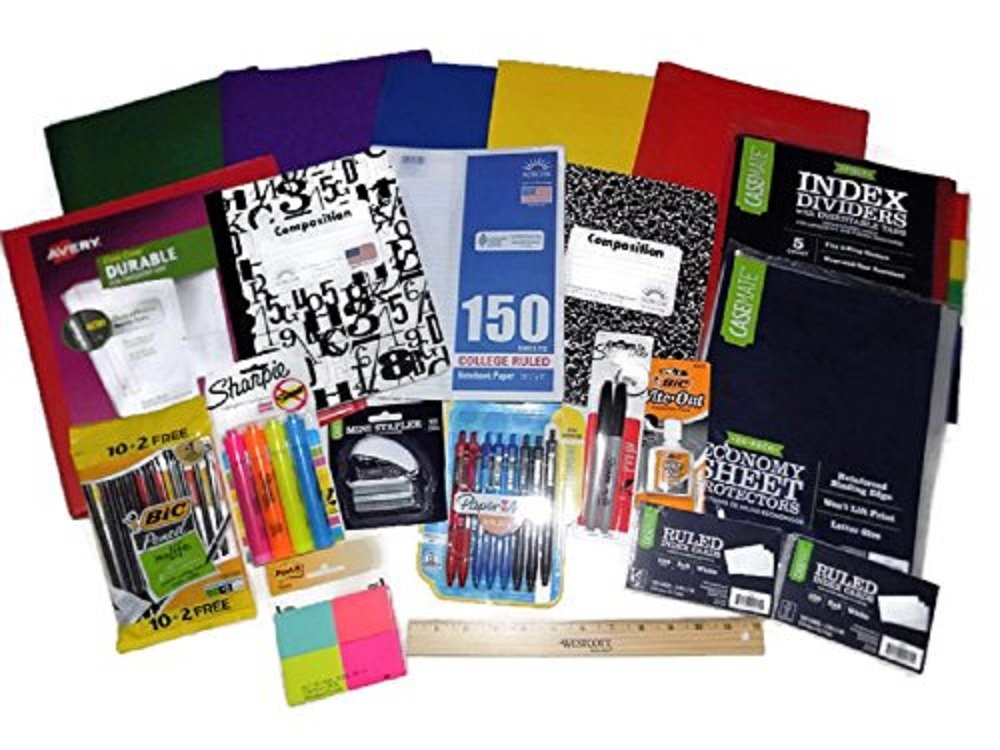 School Supply Bundle for Middle,High School, College - Avery