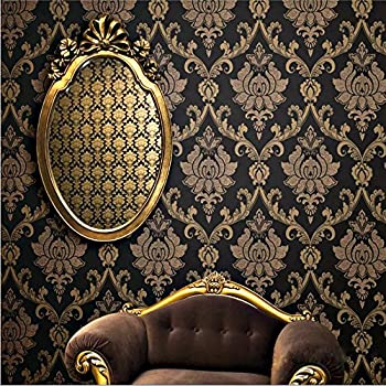 Black And Gold Victorian Wallpaper