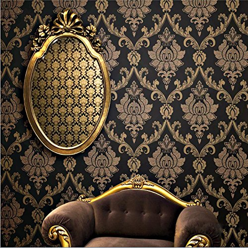 qihang-european-style-gold-flecked-process-damascus-non-woven-wallpaper-black-colors-053m173-x-10m32