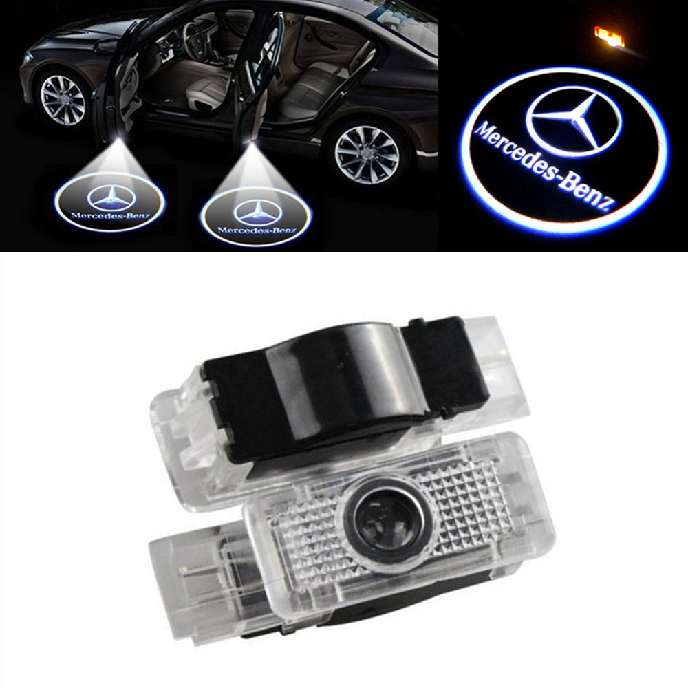 WANGZIQI 2 Stü ck Autotü r LED Logo Tü rbeleuchtung Einstiegsleuchte Projektion Projektor Licht