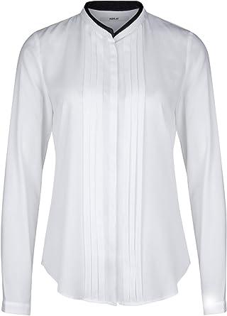 REPLAY Camisas - Básico - Cuello Mao - Manga Larga - para Mujer Blanco óptico M: Amazon.es: Ropa y accesorios