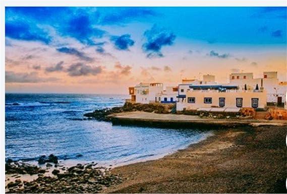 Rompecabezas 1000 Piezas Vista Española del Paisaje En El Cotillo, Fuerteventura, Islas Canarias, España para Amigo Regalo De Cumpleaños Familiar para Niños: Amazon.es: Hogar