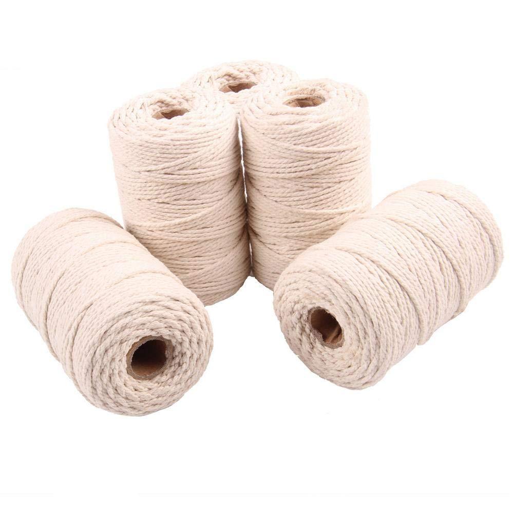 Tricot Decaden Cordeau en Coton Handcraft Cotton String Coton D/écoration pour tenture Murale cintres pour Plantes m/étiers dartisanat projets d/écoratifs