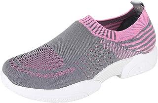 Moonuy Été Sneakers pour Femmes en Plein Air Mesh Sports Chaussures Dames Respirant Doux Chaussures De Course Dames Chic Baskets