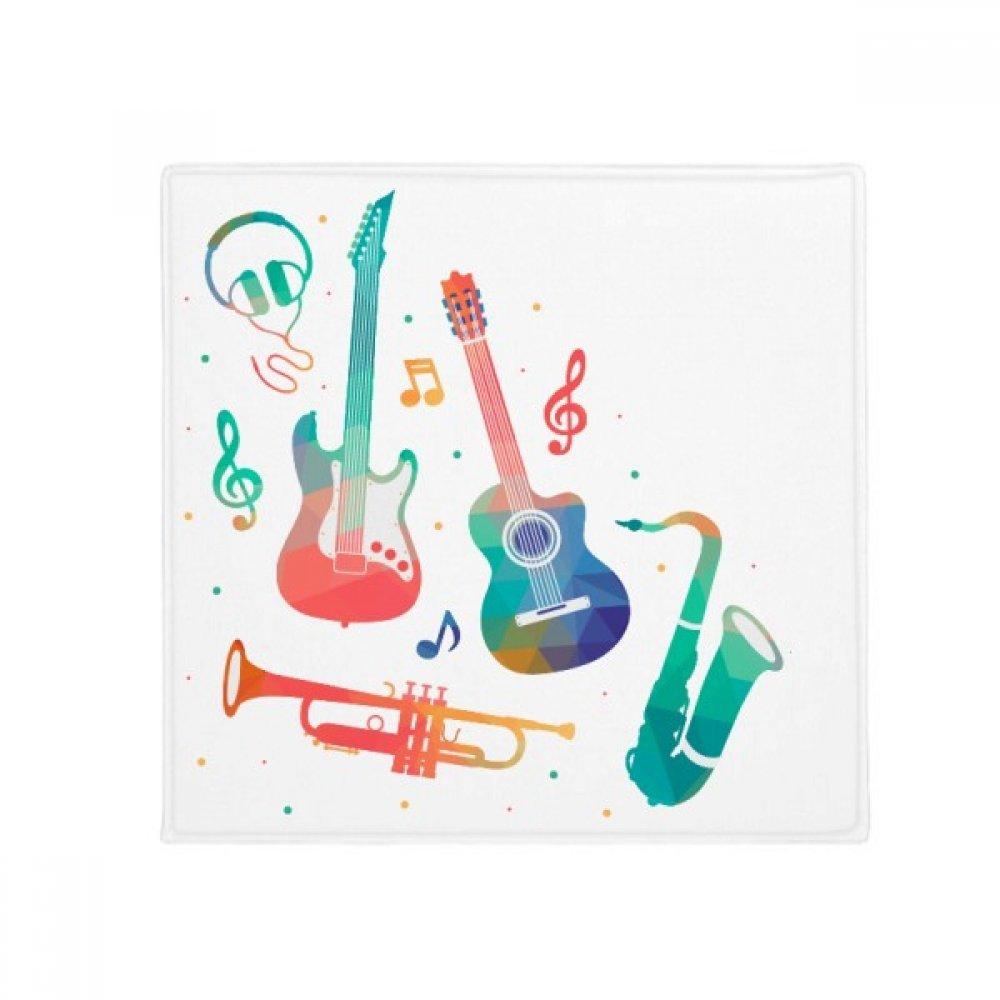DIYthinker Music Green Pink colorful Instruments Pattern Anti-Slip Floor Pet Mat Square Home Kitchen Door 80Cm Gift