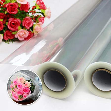 100 metre x 80cm Cellophane Clear Florist Wrap Hamper Cover Craft Bouquets