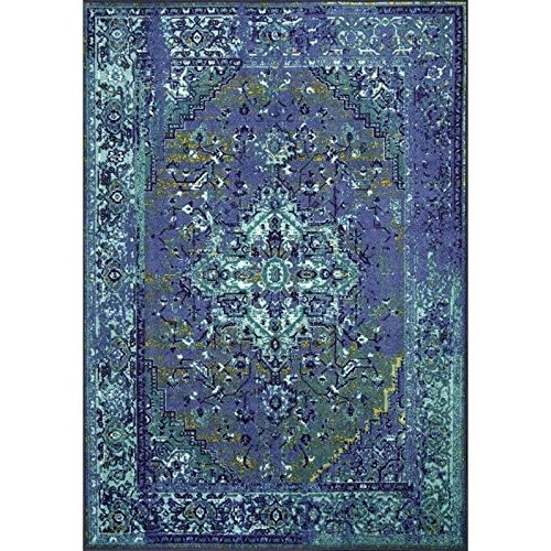 Blue Oriental Rug Amazon Com