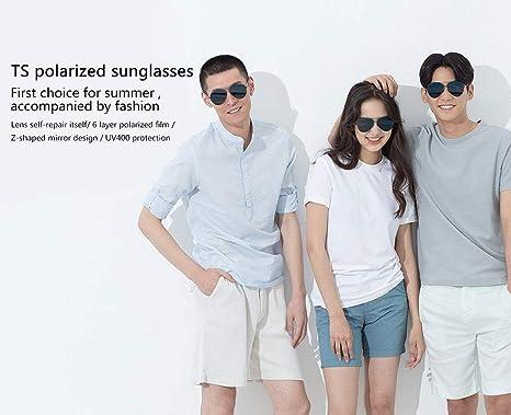 ba0b6e9c67f2 Xiaomi TS Brand Polarized Stainless Sun Lenses Glasses 100% UV Isolation  Colorful Xiaomi Mijia Sunglasses Women Man: Amazon.ae: ChinaTechMall