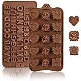 2 Piezas Moldes de silicona,antiadherentes,sin BPA de grado alimenticio Moldes para chocolate, caramelo, gelatina, cubitos de