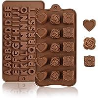 KAMYSEN 2 Piezas Moldes de silicona,antiadherentes,sin BPA de grado alimenticio Moldes para chocolate, caramelo…