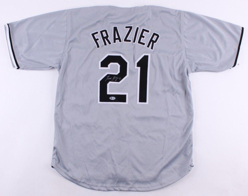 best service e0c8f 3c591 Todd Frazier Autographed Jersey - w BECKETT COA NY YANKEES ...