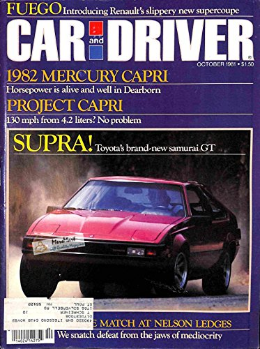 Car and Driver Magazine, October 1981