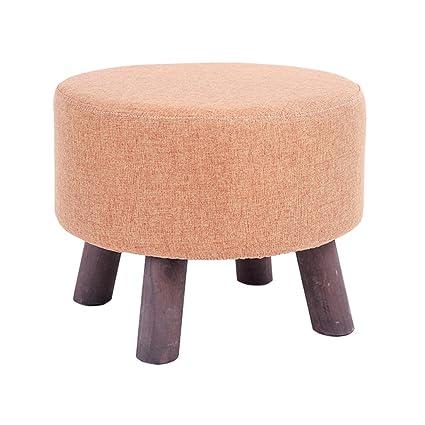 Taburete de pie Taburete tapizado con reposapiés acolchado de madera ...