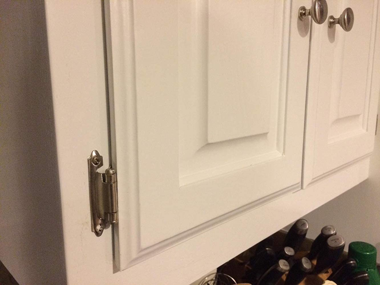 Kitchen Hardware for Kitchen Cabinets SCH38SNB homdiy Inset Cabinet Hinges 10 Pack Cabinet Hinges Satin Nickel 5 Pair