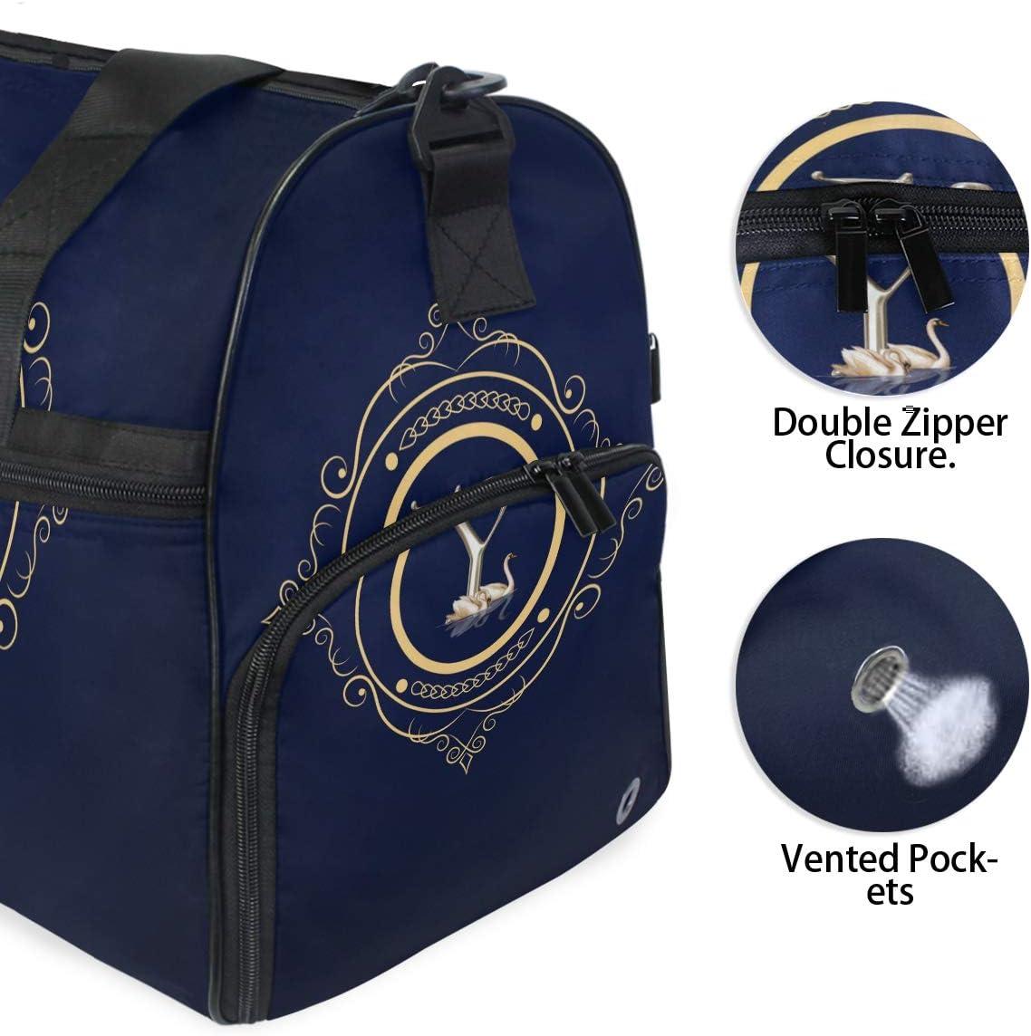 Lightweight Water Resistant Tear Resistant FANTAZIO Monogram Y Sports Bag Packable Travel Duffle Bag