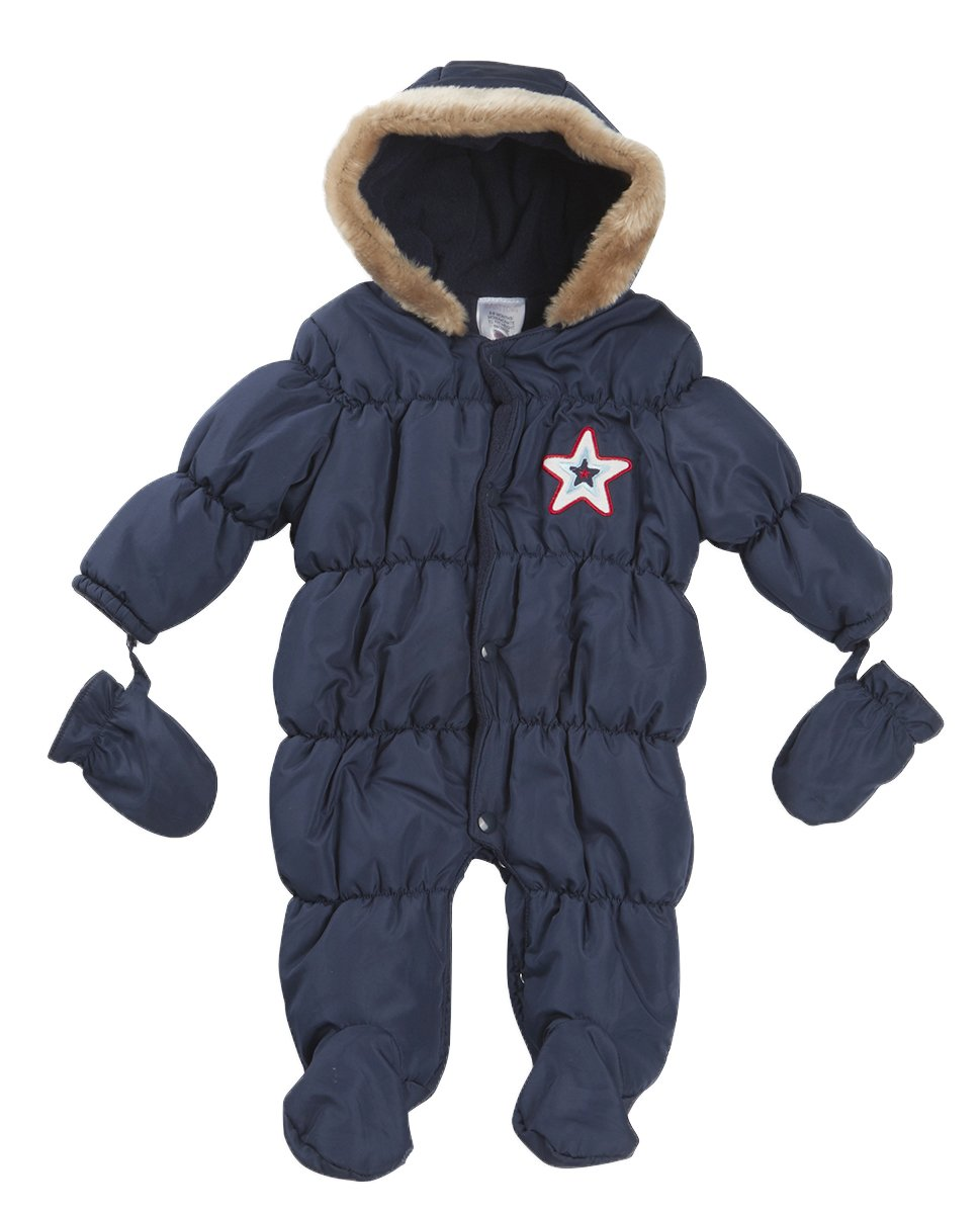 Strong Souls Baby Boys Hooded Snowsuit 11289_BOYS