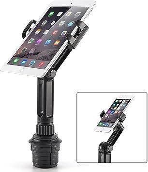 iKross 2-en-1 Soporte Tablet o Móvil para Coche, Coche-Soporte Universal de Portavasos Adjustable para Tablet, iPad, o iPhone Teléfono Smartphone: Amazon.es: Electrónica