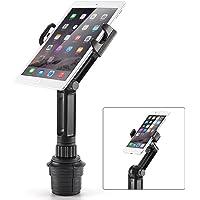 iKross Montaje Soporte de portavazos de Coche para Tabletas y Celulares Mobil Smartphone como iPad, iPhone, Samsung, Nokia, y mas