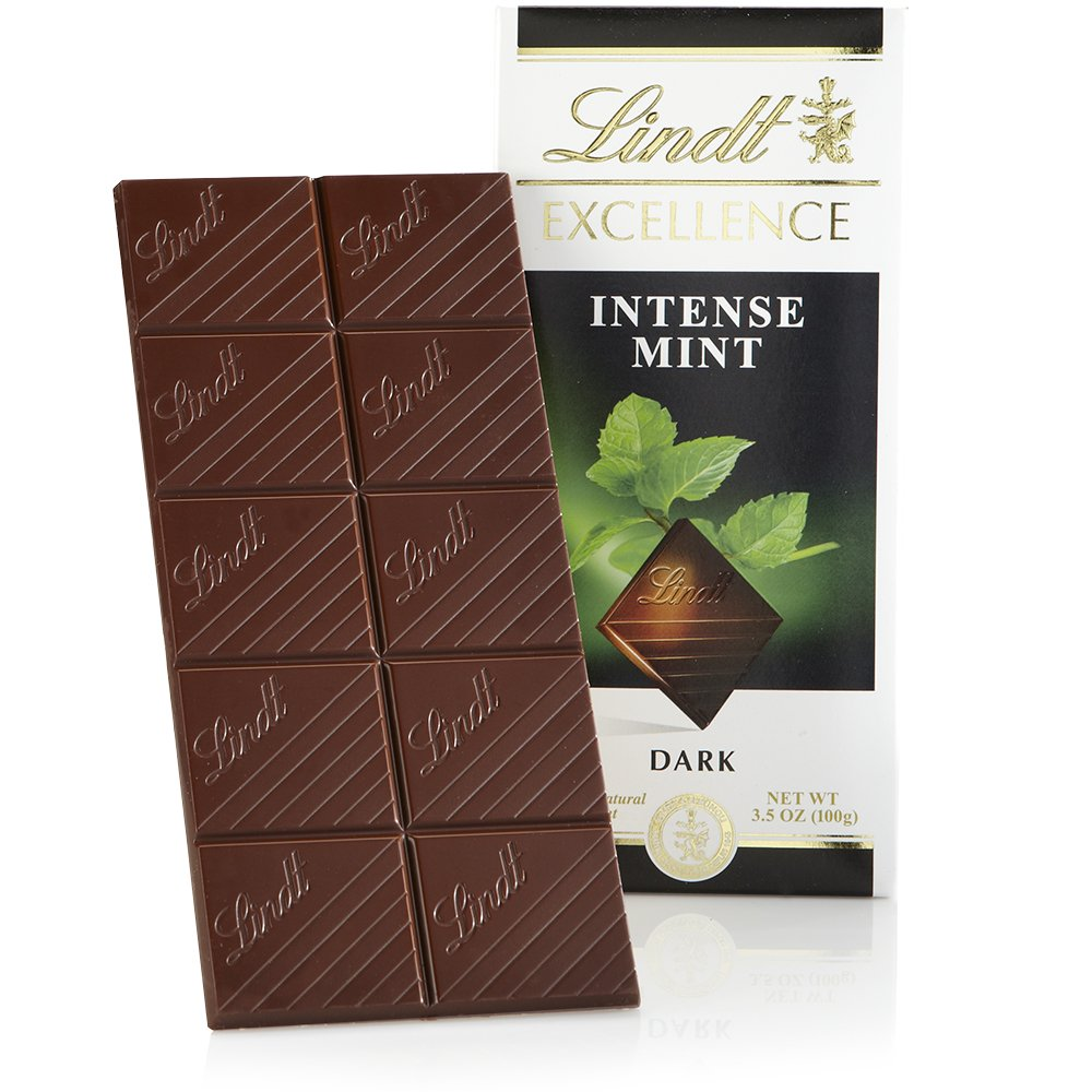 Lindt Excellence Bar, Intense Mint Dark Chocolate, 3.5 Ounce (Pack of 12)