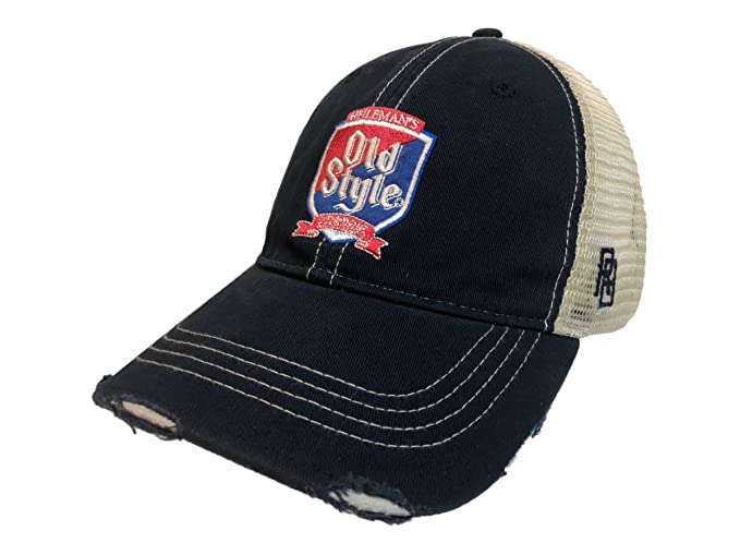dcfbe27599a26 Image Unavailable. Image not available for. Color  Old Style Beer Pabst  Brewing Company Retro Brand Vintage Mesh Adjust Hat Cap
