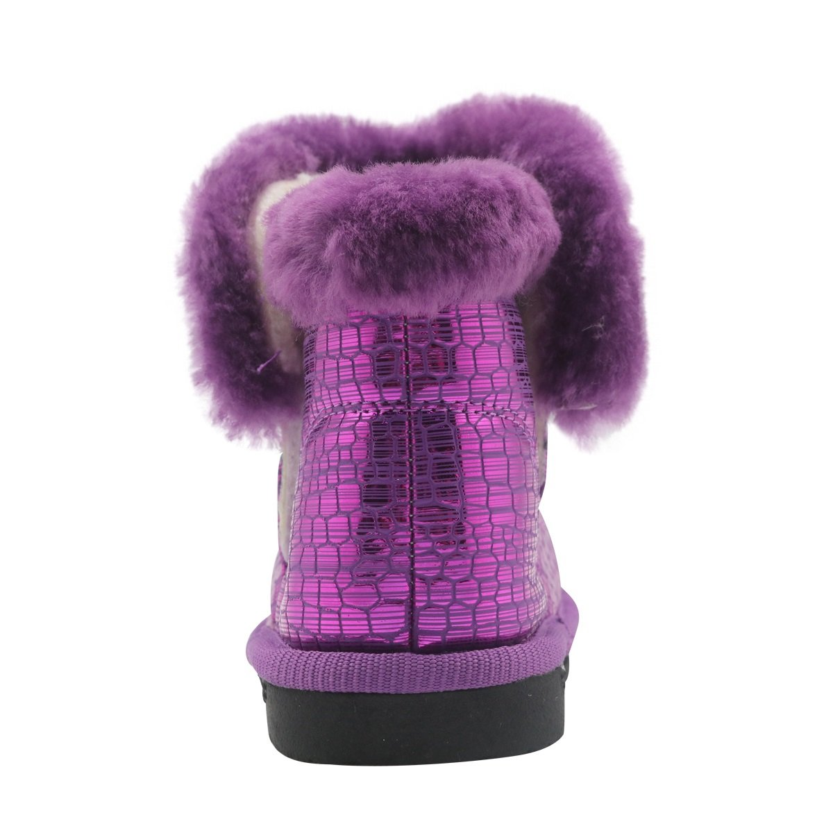 Color : Purple , Size : 6 M US Toddler Non-Slip Toddler Shoes Girls Warm Winter Flat Shoes Fur Snow Boots with Woolen Lining Durable