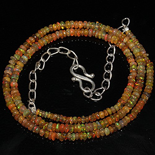 22 Carats Natural Ethiopian Welo Fire Opal Rondelle Beads (Opal Rondelle Beads)