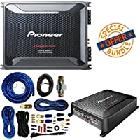 Pioneer 1300 Watts 12 Single 4 Ohm Car Subwoofer Champion Series W/ Class FD 4-Channel Bridgeable Amplifier And 4 Gauge Amp Kit