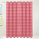 My Daily Classic Red Plaid Gingham Checkered Thermal Insulated Blackout  Grommet Window Curtains For Living Room