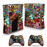 MightySkins Skin Compatible with X-Box 360 Xbox 360 S Console - Acid Trippy | Protective, Durable, and Unique Vinyl Decal wrap Cover | Easy to Apply, Remove, and Change Styles | Made in The USA