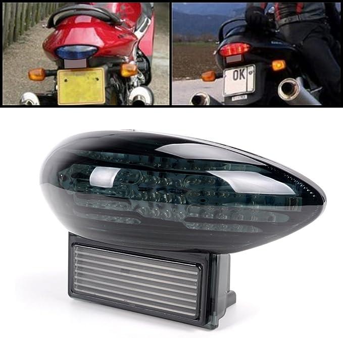 Smoke DOT Integrated LED Tail Light 35710-15H30 Suzuki Busa 1300 Back Stop Brake