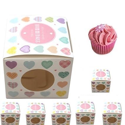 Pack de 6 Lujo Single Cajas para cupcakes – Ideal para dar tartas como regalo
