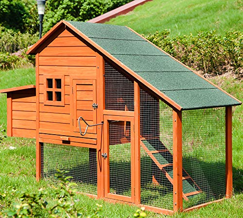 Merax Chicken Coop Wooden House Cage for Small Animals Hen Coop Nesting Box Chicken Coop#1