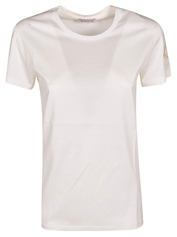 Moncler Women's 8086261V8002035 White Cotton TShirt